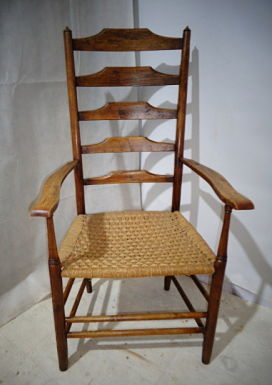 ANTIQUE ARTS & CRAFTS CLASSIC PHILIP CLISSETT HIGH BACK CHAIR