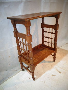 ARTS & CRAFTS LIBERTY OAK LEONARD WYBURD BOOKCASE