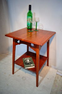 ARTS & CRAFTS LIBERTY of LONDON OAK WINE TABLE c1880-1900