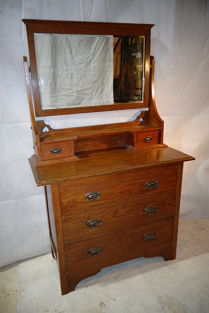 ANTIQUE ARTS & CRAFTS OAK DRESSING CHEST c1890-1910