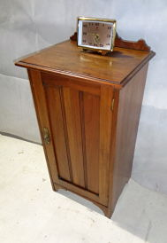 ARTS & CRAFTS WALNUT POT CUPBOARD c1875-90