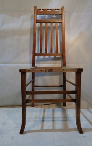 E. A. TAYLOR ARTS & CRAFTS CHAIR designed for WYLIE LOCHHEAD OF GLASGOW
