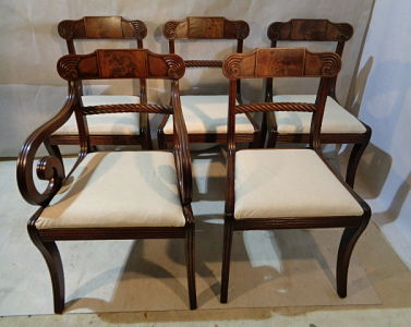 ANTIQUE REGENCY MAHOGANY SET OF CHAIRS c1811-20
