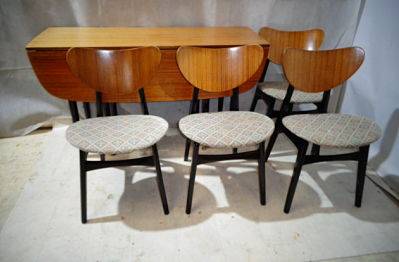 RETRO G PLAN TOLA (BUTTERFLY) TEAK TABLE & CHAIRS