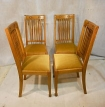 SHAPLAND & PETTER SET OF 4 OAK DINING CHAIRS c1900