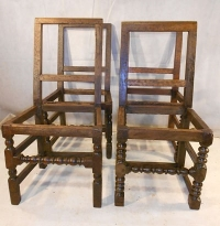 ANTIQUE SET OF FARTHINGALE CHAIRS c1640-60
