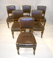 LAMBS OF MANCHESTER SET OF 6 CHAIRS c1850-70